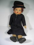 doll, dressed in British Red Cross Officer's outdoor uniform, c1950