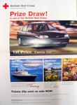 Poster advertising a Prize Draw in aid of the British Red Cross, 1997