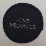 Circular cloth badge: Home Mechanics