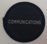 Circular cloth badge: Communications