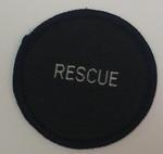 Circular cloth badge: Rescue