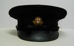 Men's peaked cap with gilt hat badge