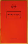 Small notebook with red cover, made by Silvine, 'Memo Book'