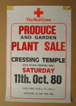 poster advertising a produce and garden plant sale, 1980