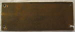 Small engraved plaque B.R.C.S. Flintshire Branch 1968