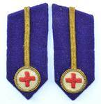 Gorget patches: purple with gold line with embroidered emblem.