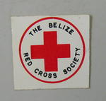 Sticker: The Belize Red Cross Society