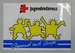 Sticker: Jugendrotkreuz. Gesund mit Grips.