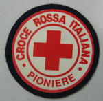 Cloth badge: Croce Rossa Italiana Pioniere