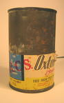 Tin of 'Oxton Brand Delicious Casserole Steak with spaghetti'