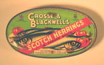Empty tin of Crosse & Blackwell's Herrings.