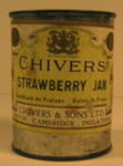 Tin of Chivers Strawberry Jam