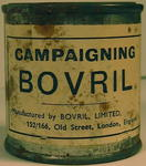 Dummy tin of Campaigning Bovril