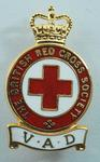 The British Red Cross Society VAD badge