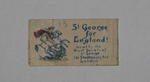 paper fundraising flag: St George for England