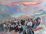 Oil painting: 'Is capture ever humane? Stateless Kurds'