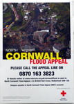 Poster produced to raise funds for the North Cornwall Flood Appeal