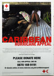 Poster produced for the Caribbean Hurricane appeal, 2004
