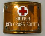 Bronze address plaque from British Red Cross Society headquarters