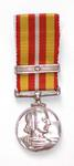 Miniature Voluntary Medical Services medal with one bar