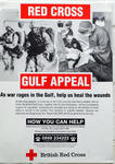 Poster advertising the Red Cross Gulf Appeal.