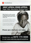 poster produced for the 'West Africa Crisis Appeal'