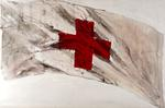 Painting of 'British Red Cross Flag'