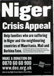 Niger Crisis Appeal poster