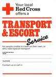 poster advertising the Transport & Escort Service