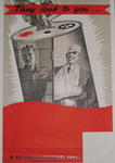 Small poster: 'They look to you...Red Cross Agricultural Fund.'
