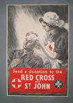 Laminated small poster: 'Send a Donation to the Red Cross and St John. St James's Palace, London, SW1.'