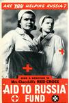 Small poster: 'Are YOU Helping Russia? Send a donation to Mrs Churchill's Red Cross 'Aid to Russia' Fund.