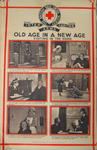 One of a set of large posters illustrating the services of the British Red Cross: Old Age in a New Age. Visiting in the Home.