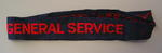 Cloth flash, red letters on blue: GENERAL SERVICE