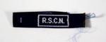 Qualification flash for adult member: R.S.C.N.