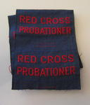 Cloth flash: Red Cross Probationer