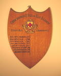 wooden shield: Cambridgeshire & Isle of Ely Branch First Aid (Individual)