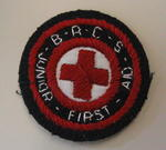Circular cloth patch: British Red Cross Junior First Aid