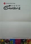 poster: British Red Cross Open Gardens