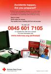 small poster/flier advertising British Red Cross first aid products