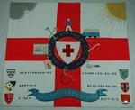Fabric panel commemorating holidays for the disabled which the British Red Cross held at Pontins Pakefield.