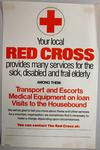 poster advertising Red Cross services