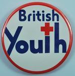 Circular plastic badge: British Youth
