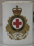 Limited edition china cup, commemorating Queen Elizabeth as Patron of the British Red Cross Society, 1952-2002