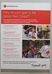 poster: Why should I give to the British Red Cross?