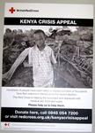 poster advertising the Kenya Crisis Appeal