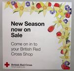 Poster used in British Red Cross shops