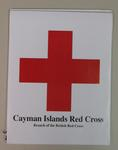 sticker promoting the Cayman Islands Red Cross, Branch of the British Red Cross