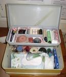 beauty care kit in plastic carry case