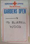 poster used at an Open Garden event